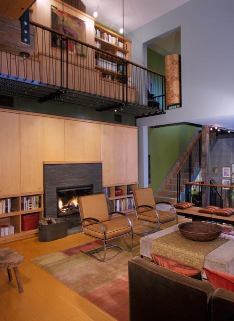 City Garden Loft modern-living-room