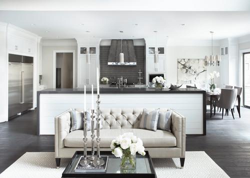 Black and white modern and neutral kitchen (Intense White)