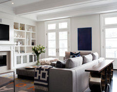 City Home transitional living room