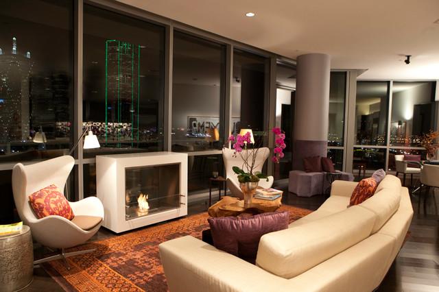 City Living High Rise Condo Modern Living Room