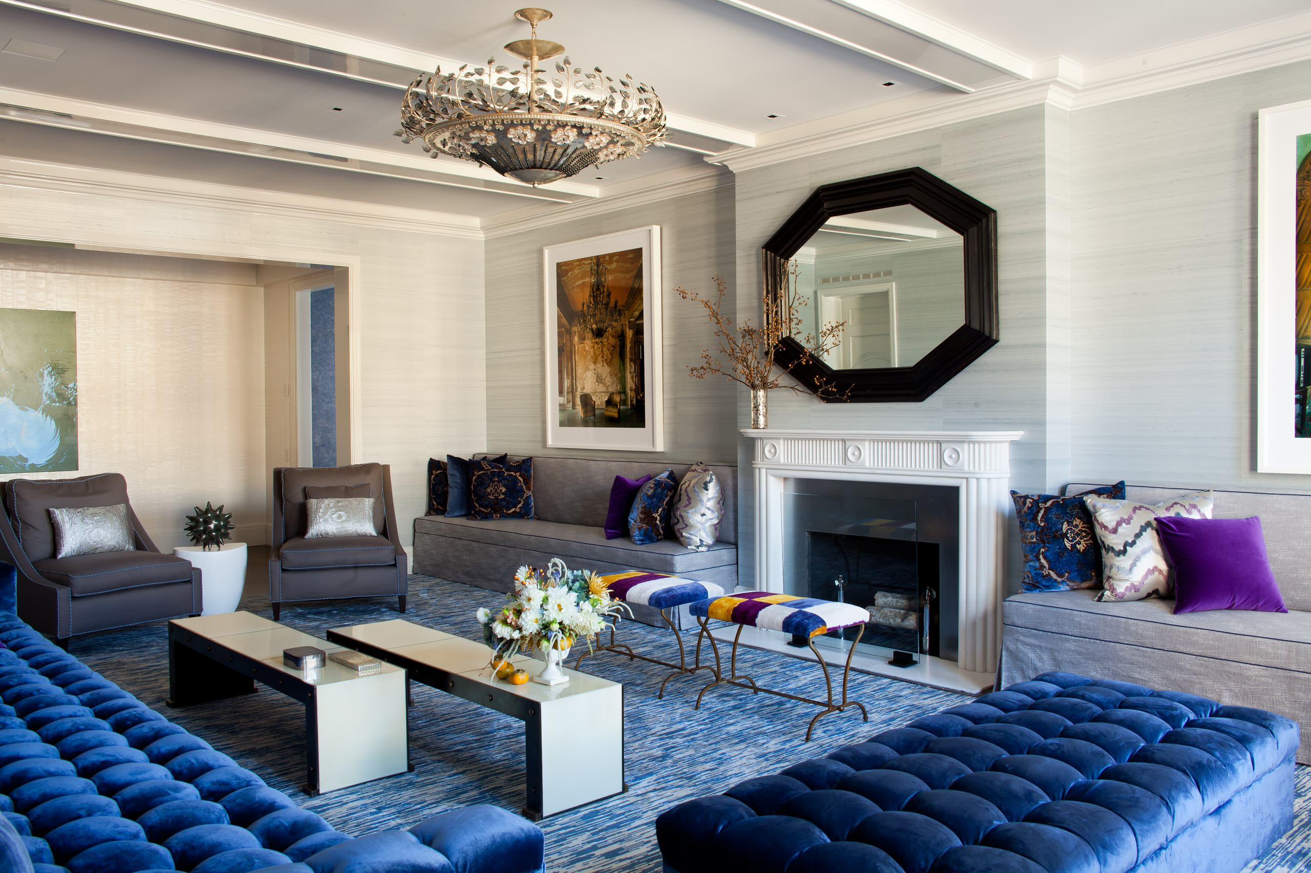 Blue Velvet Couch Ideas Houzz