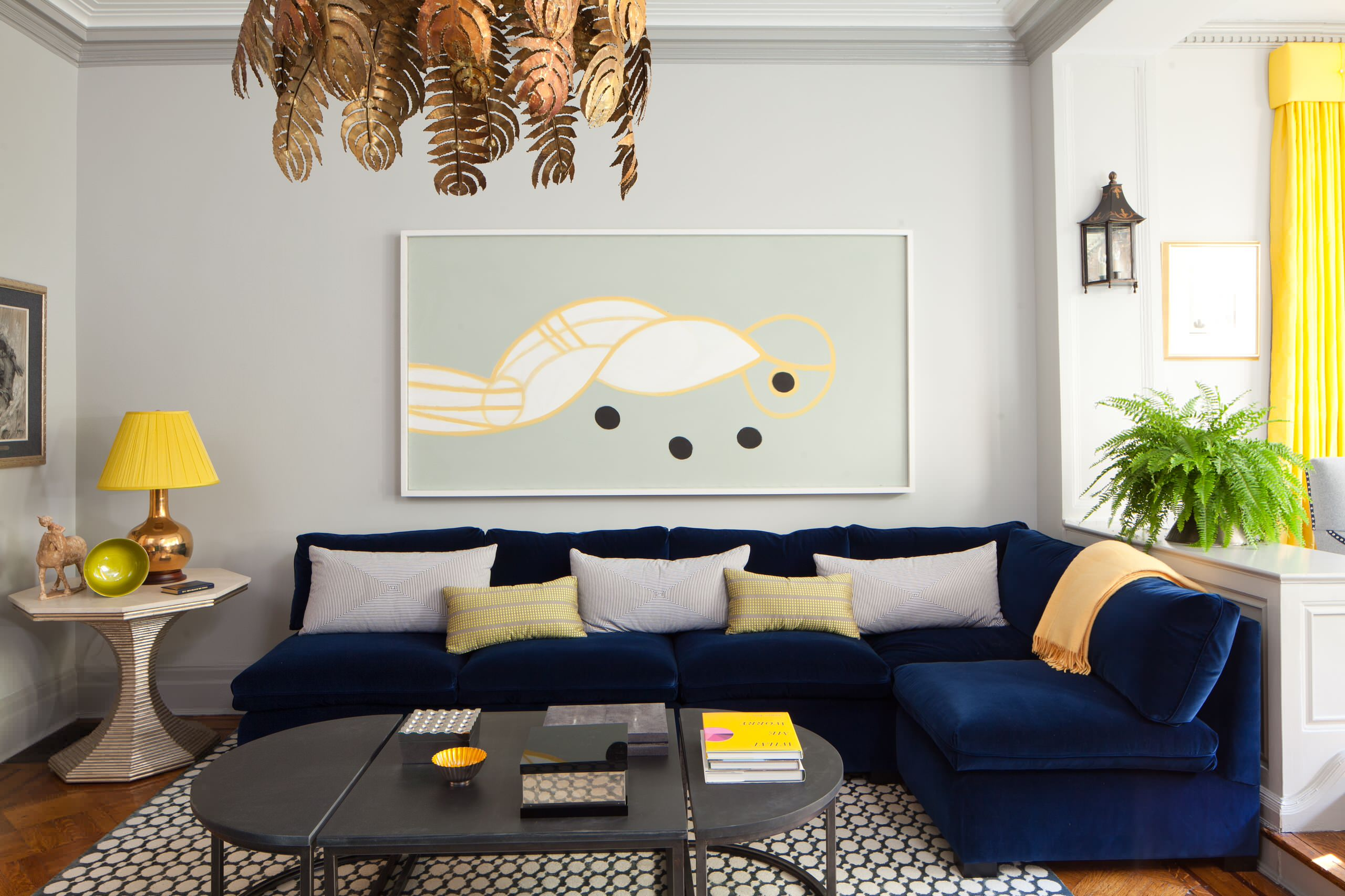 Picture of: Decorating A Blue Couch Houzz