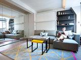 contemporary living room Houzz Tour: A Studio Makes the Most of Every Inch (9 photos)