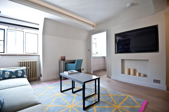 City Studio Apartment Contemporary Living Room