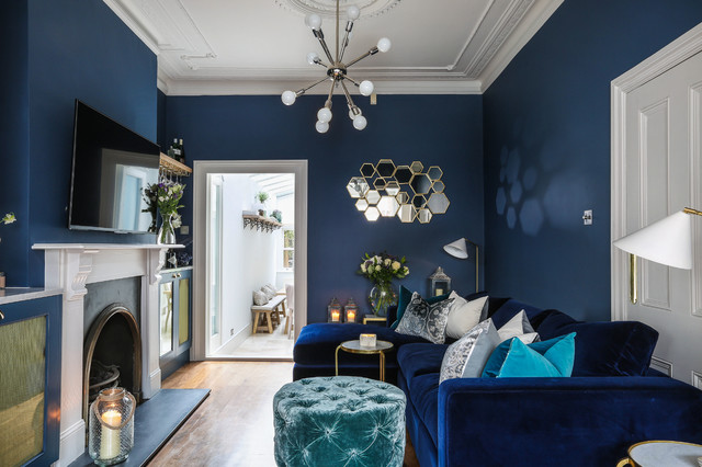 9 Ways To Use Navy Blue In A Living Room, Navy Blue Living Room
