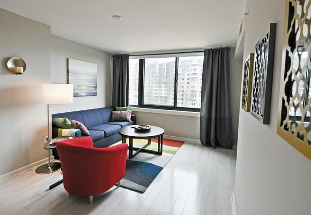 Clarendon Condo - Living Areas - Modern - Living Room - DC Metro ...