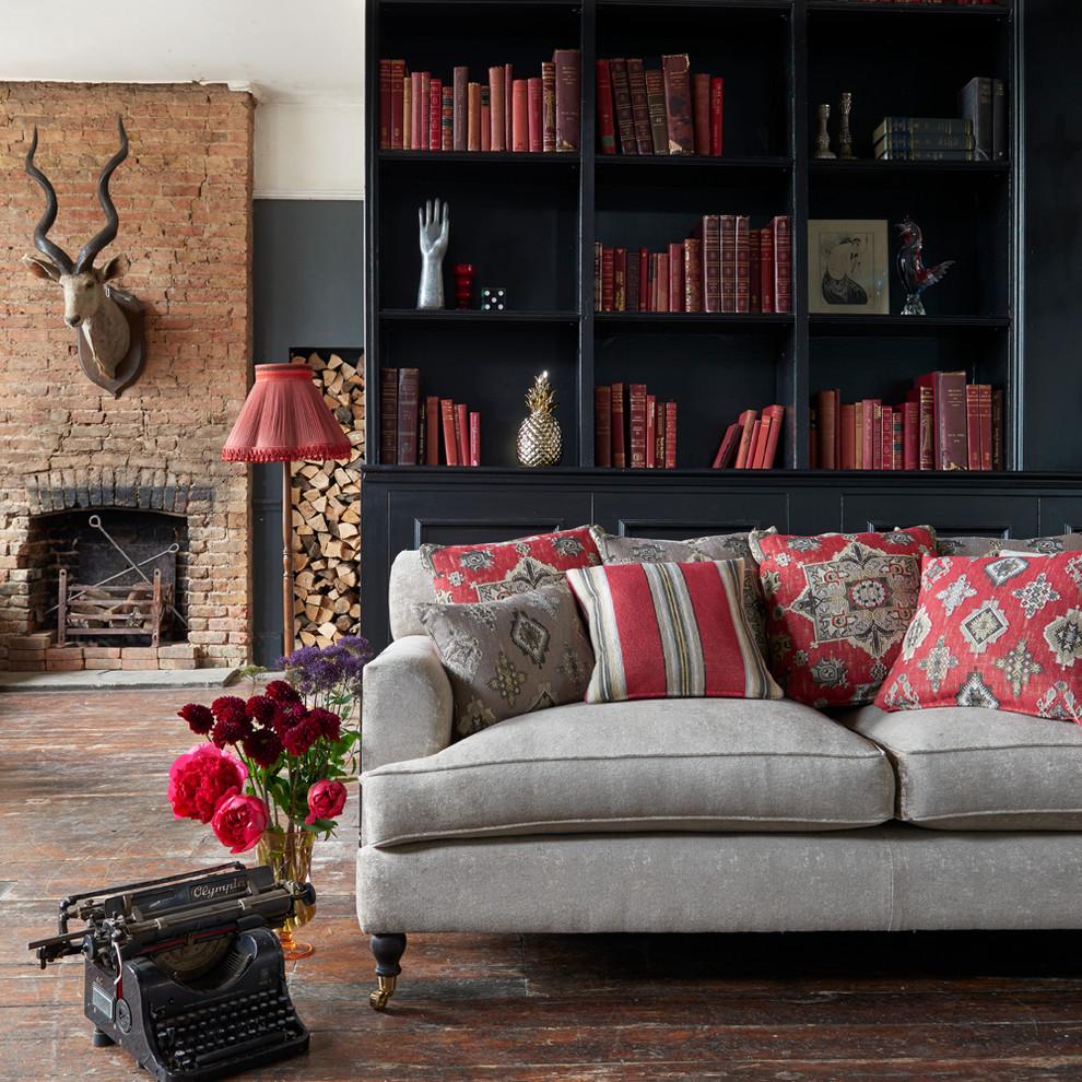 Living room - zen living room idea in Other