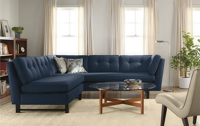 Clarke Sectional Room by R&B contemporary-living-room