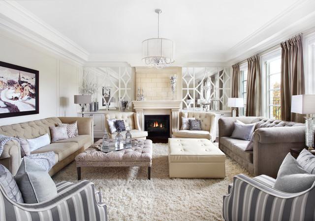 Clic Luxurious Neutral Cream And Grey Living Room Clique Chic Salon