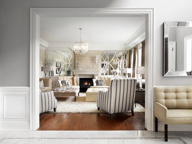 Classic luxurious neutral cream and grey living room for Grey and neutral living room