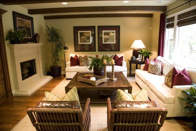 Beach Condo Tropical Living Room