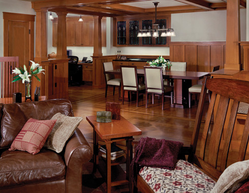 Classic arts and crafts style architecture  Traditional  Living Room  seattle  by Gelotte