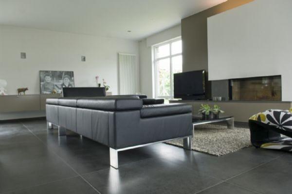 light grey tiles living room - living room ideas