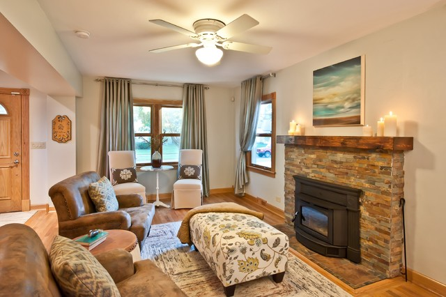 classic cape cod traditional living room chicago