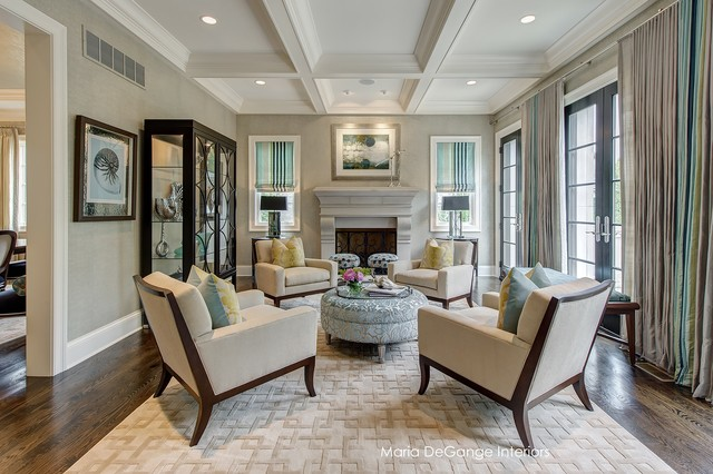 Classic Chic Living Room Transitional Living Room