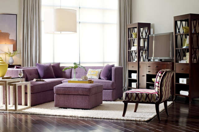 Classic Chic Living Room With Credenza Transitional