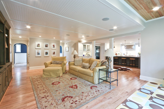 Classic Coastal Colonial Renovation - the Anti McMansion traditional-living-room