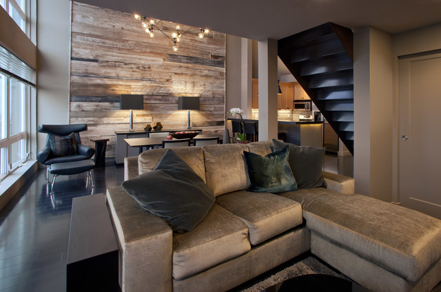Classic Cool Downtown Loft Contemporary Living Room