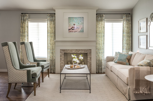classic elegant living room with traditional sofa and accent chairs