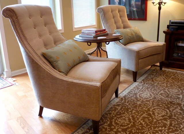 Classic french inspired traditional living room for Walter e smithe living room