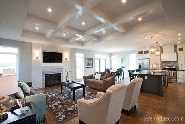Room With Coffered Ceiling