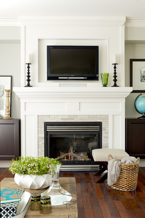 hanging your tv over the fireplace: yea or nay? | drivendecor