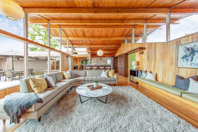 Point Loma Mid Century Modern Remodel Contemporary Living Room San Diego By Lilium Designs