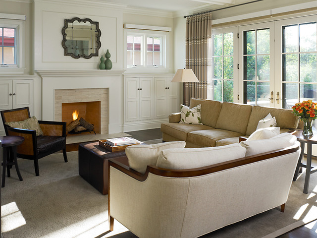 traditional living room by Reynolds Architecture- Northfield, Illinois