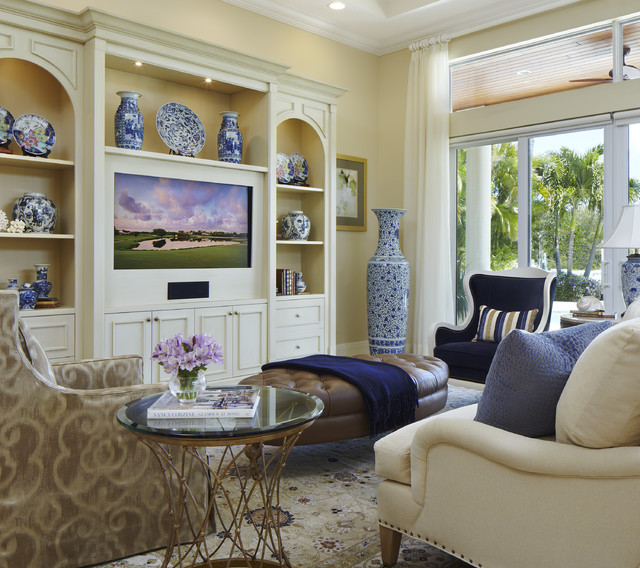 Classic transitional traditional-living-room