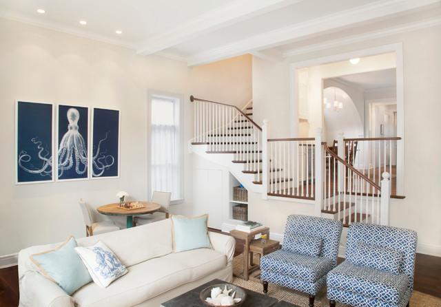 Classic Urban Interior Renovation beach-style-family-room