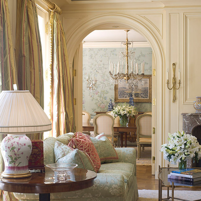 Classical French Chateau traditional-living-room