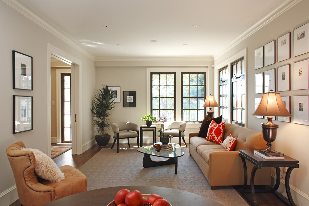 Living room - transitional formal living room idea in San Francisco with no tv