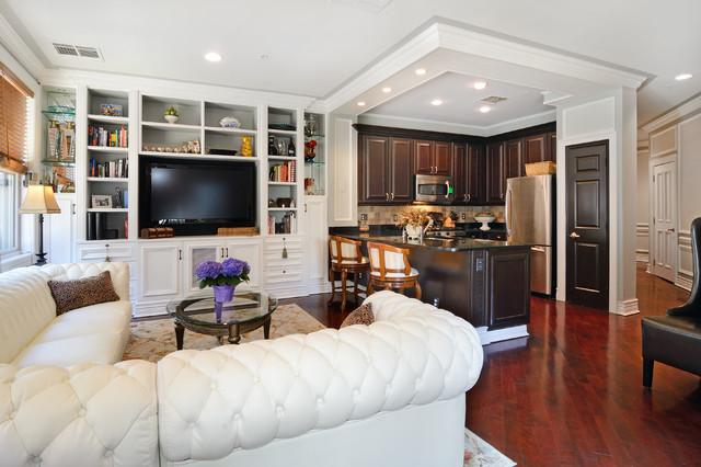 Classically elegant hoboken condo traditional living for Elegant traditional living rooms