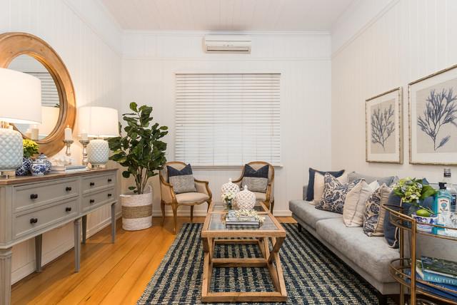 Clayfield Queenslander beach-style-living-room