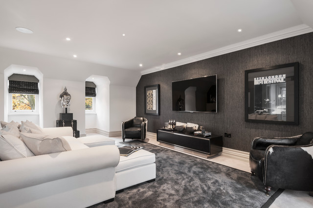 Cleeves House Contemporary Living Room London By