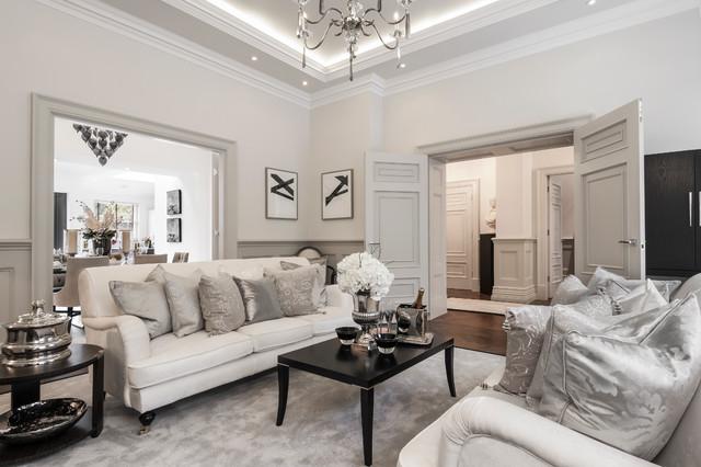 Alexander James Interiors Interior Designers & Decorators. Cleeves House  traditional-living-room
