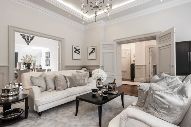 Cleeves house traditional living room london by for London living room ideas
