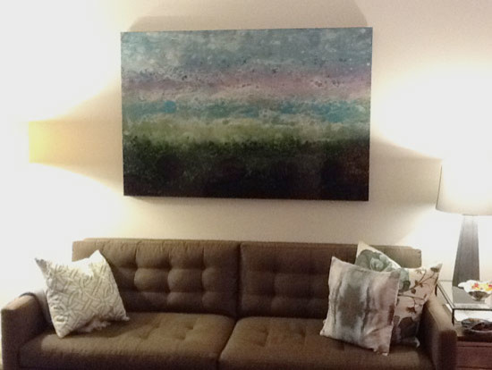 Client Artwork Installations contemporary-living-room
