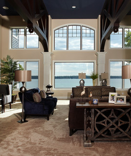 Client Home Gull Lake Mi Traditional Living Room
