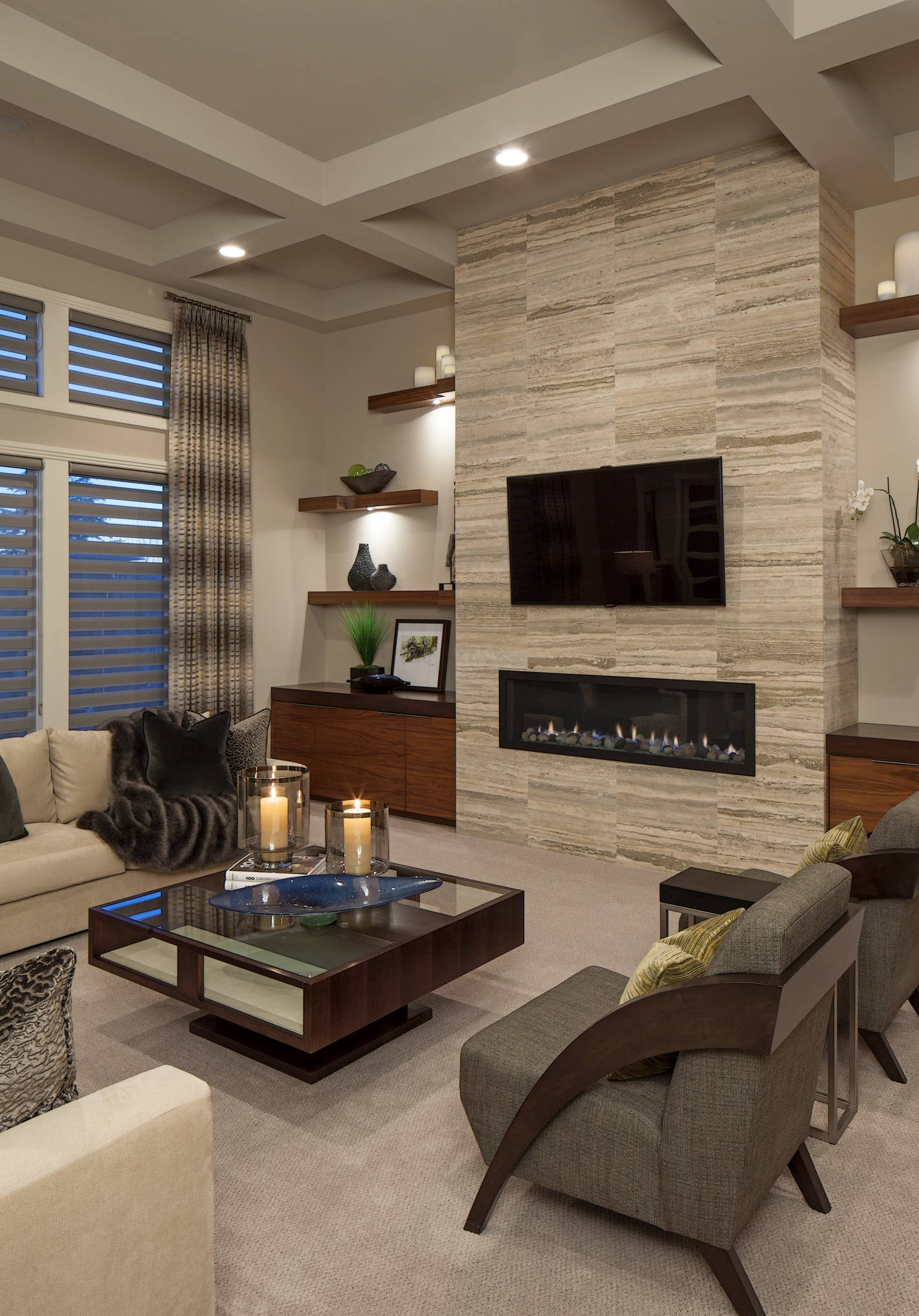 75 Beautiful Living Room With A Wall Mounted Tv Pictures Ideas May 2021 Houzz
