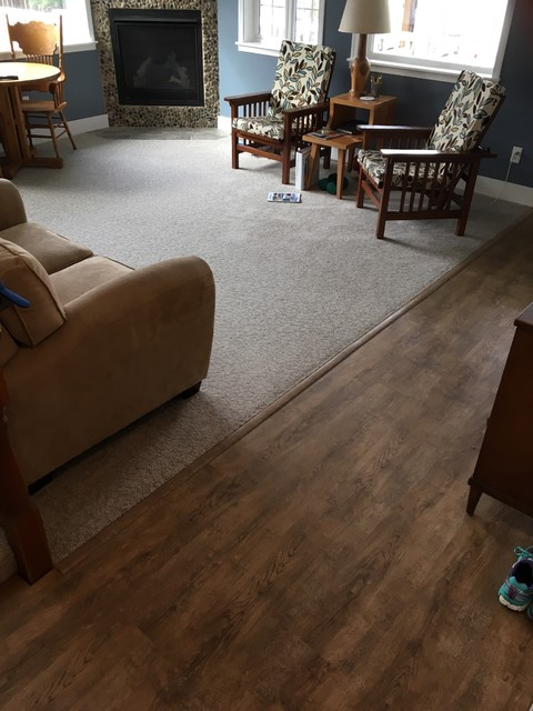 Client modin vinyl plank installs arden contemporary for Hardwood floor dealers
