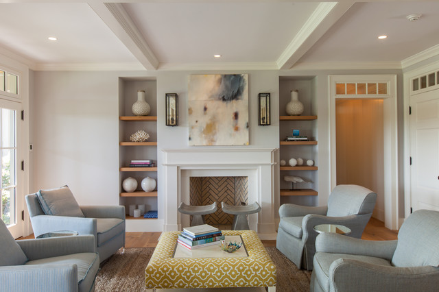 Cliff Road Area Nantucket Beach Style Living Room