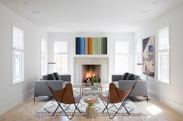 Clifford Residencescandinavian Living Room Austin