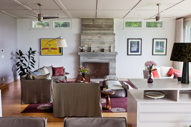 Cliffside Drive contemporary-living-room