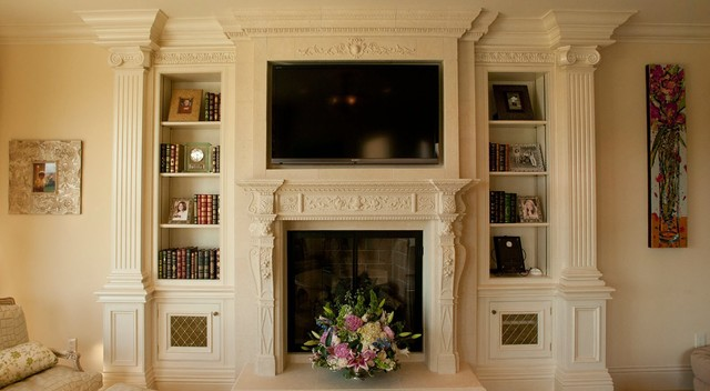 Clive christian classical cream media cabinetry traditional living room san francisco by - Clive christian kitchen cabinets ...