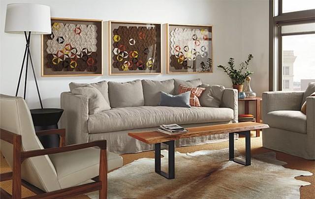 clive slipcovered sofa room by r b modern living room. Black Bedroom Furniture Sets. Home Design Ideas