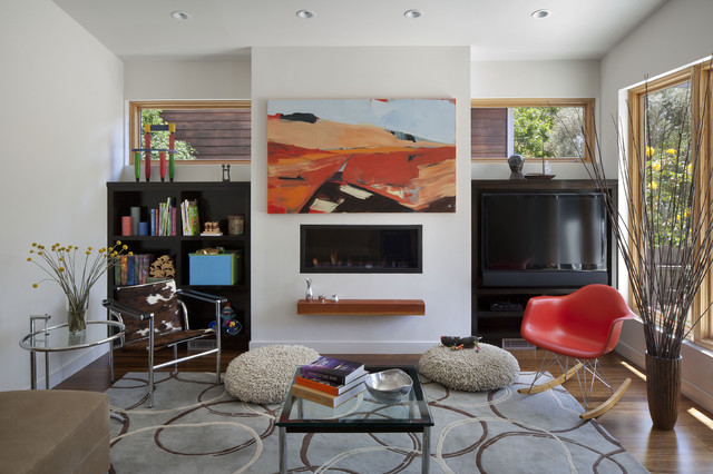 Cloud Street Residence modern-living-room