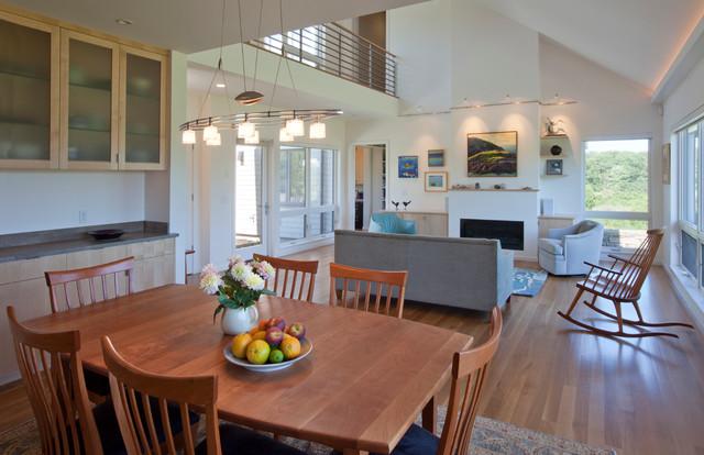 Co Housing Contemporary Living Room Portland Maine