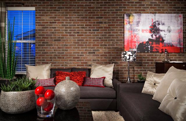 Coal Creek Sparkle Model Living Area contemporary-living-room