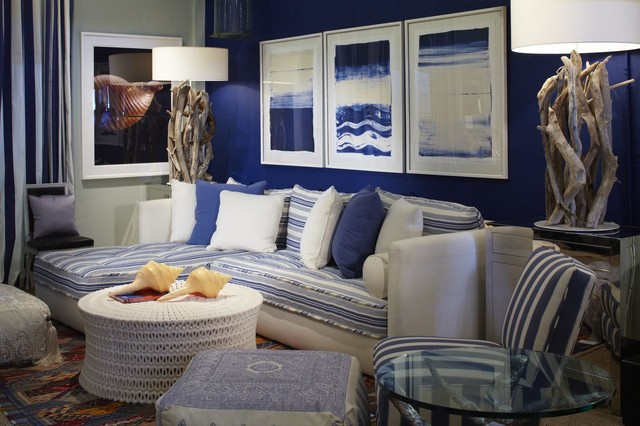 Coastal Blue Living Room Contemporary Living Room Miami By Jalan Jalan Collection